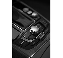 Audi 2013 Console in B&W Photographic Print