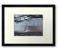 NYC curb Framed Print