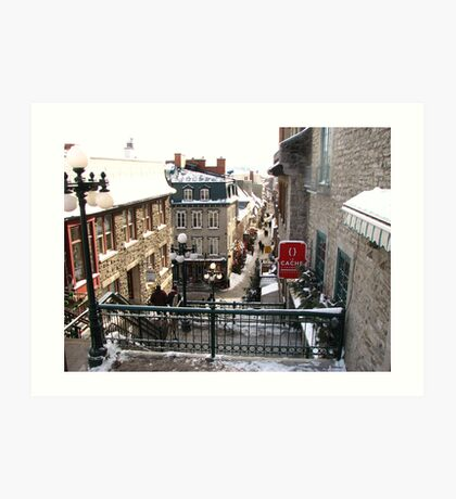 Looking Down Old Quebec Canada Art Print