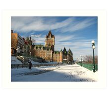 Quebec City Canada Fort Du Frontenac Art Print