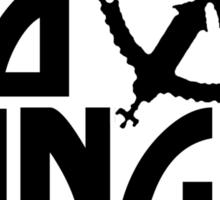 No Kings James Logo Black Sticker