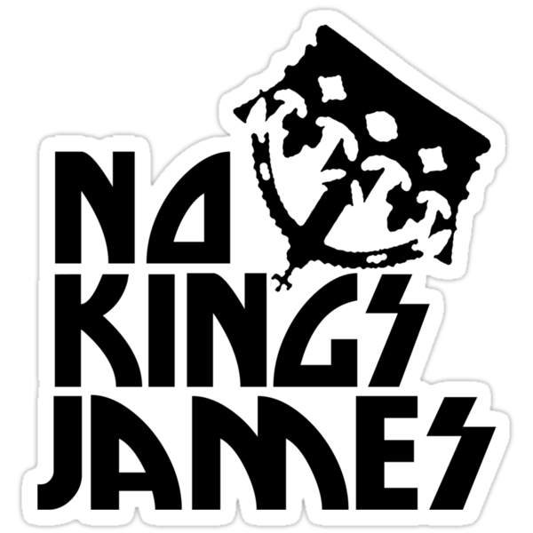 No Kings James Logo Black by shotsinthedark