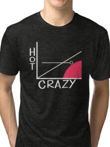 Crazy vs. Hot Tri-blend T-Shirt