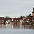 """"""" Bosham at High Tide which covers the main Road"""" by Malcolm Chant"""