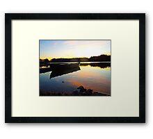 Fishing Boat Reflection at Sunrise Framed Print