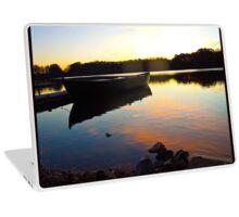 Fishing Boat Reflection at Sunrise Laptop Skin