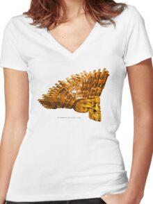 WAR MONGER 105 Women's Fitted V-Neck T-Shirt