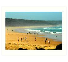 True Blue, beach cricket the flipper  Art Print