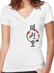 TaeKwonDo Women's Fitted V-Neck T-Shirt