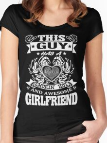 AWESOME GIRLFRIEND Women's Fitted Scoop T-Shirt