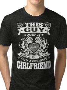 AWESOME GIRLFRIEND Tri-blend T-Shirt