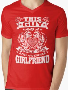 AWESOME GIRLFRIEND Mens V-Neck T-Shirt