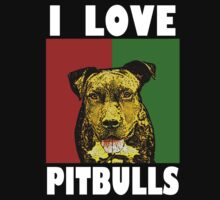 I Love Pitbulls White Font by Ashe Bandia