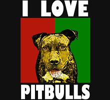 I Love Pitbulls White Font Unisex T-Shirt