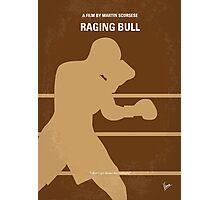 No174 My Raging Bull minimal movie poster Photographic Print