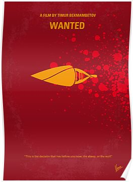 No176 My wanted minimal movie poster by Chungkong