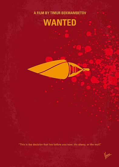 No176 My wanted minimal movie poster by Chungkong