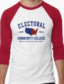 Electoral Community College-2 Men's Baseball ¾ T-Shirt