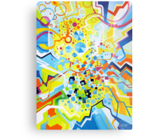 Birth of the Circle - Abstract Acrylic Canvas Painting Metal Print