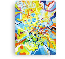Birth of the Circle - Abstract Acrylic Canvas Painting Canvas Print