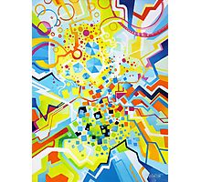 Birth of the Circle - Abstract Acrylic Canvas Painting Photographic Print