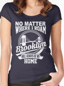 BROOKLYN Women's Fitted Scoop T-Shirt