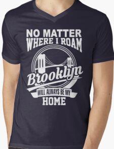 BROOKLYN Mens V-Neck T-Shirt