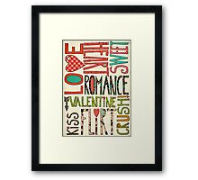My Romantic Valentine Framed Print
