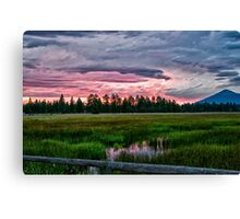 Sisters Sunset Canvas Print