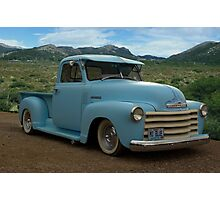 "1950 Chevrolet Pickup Truck ""Mo Blue"" Photographic Print"