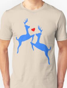 ۞»♥Adorable Jumping Deer Couple Clothing & Stickers♥«۞ Unisex T-Shirt
