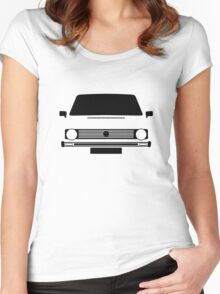 VW Rabbit  Women's Fitted Scoop T-Shirt