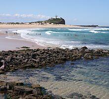 Nobbys Beach by Timothy John Keegan