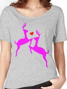 ۞»♥Adorable Jumping Deer Couple Clothing & Stickers♥«۞ Women's Relaxed Fit T-Shirt
