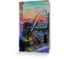 Gateshead Millennium Bridge from Newcastle Greeting Card