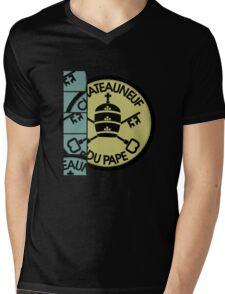"""""""Pape 2"""" for Wine Geeks Mens V-Neck T-Shirt"""