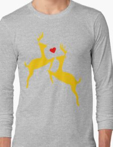 ۞»♥Adorable Jumping Deer Couple Clothing & Stickers♥«۞ Long Sleeve T-Shirt