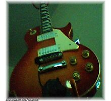 Rob Mazureks Personal Les Paul Guitar Photographic Print