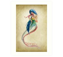 Omnivorous Mermaid Art Print