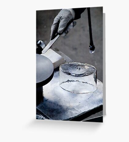 Glass Blowing - Separation VRS2 Greeting Card