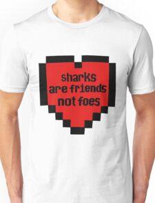 8-bit shark heart Unisex T-Shirt