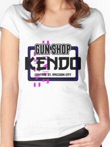 Kendo Gun Shop, Raccoon City - Resident Evil Tee Women's Fitted Scoop T-Shirt