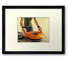 cool urban dj close-up  Framed Print
