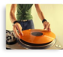 cool urban dj close-up  Canvas Print