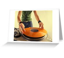 cool urban dj close-up  Greeting Card