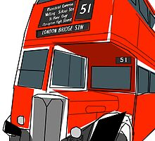 London Bus by BillyTWilliams