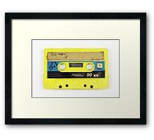 old cassette tape  Framed Print