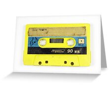 old cassette tape  Greeting Card