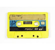 old cassette tape  Photographic Print