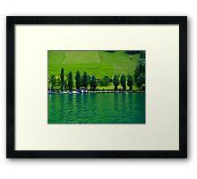Green Lake Locarno (Swiss)  VRS2 Framed Print